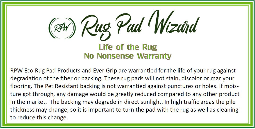 Our Eco Products are Designed to Last The Life of the Rug